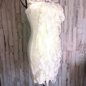 Rachael & Chloe Ruffle Front Strapless Dress